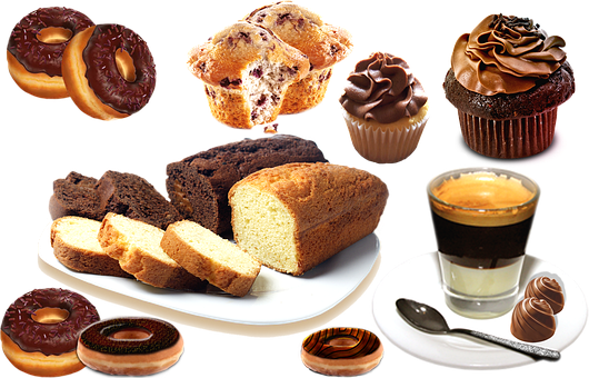 Dessert, Pastries, Food, Cupcakes, Bread, Loaf, Muffin