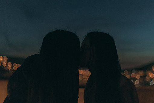 Girls, Sunset, Woman, People, Silhouette, Beach, Couple