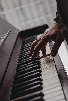 Piano, Keys, Musical Instrument, Hand, Man, Musician