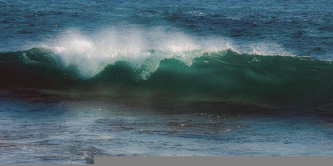 Wave, Surf, Ocean, Sea, Water, Power, Nature, Splash