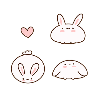 Rabbits, Bunnies, Easter, Hare, Cute, Animals, Hearts