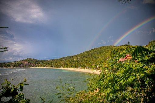 Double Rainbow, Rainbow, Tropical, Tropical Island