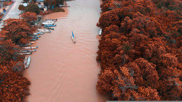 River, Canoe, Natu