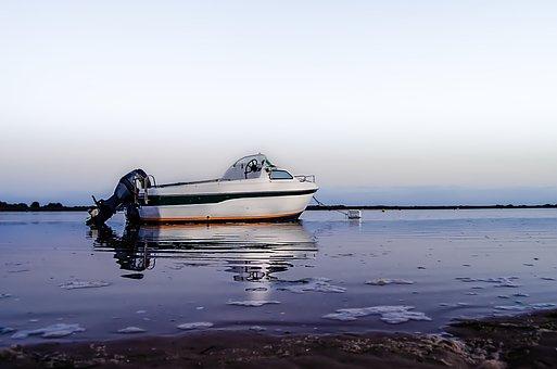 Boat, Water, Sea, Ocean, Sunset, Ship, Fishing, Lake