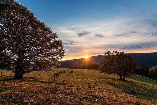 Sunrise, Mountains, Morning, Landscape, Nature, Sky