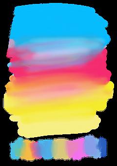 Watercolour, Colours, Colorful, Gradient, Blue, Red