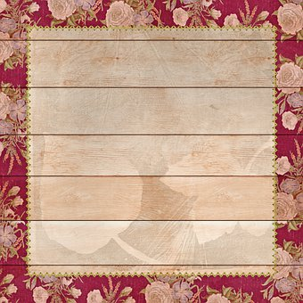 Wood Digital Paper, Floral, Wood Background, Flowers