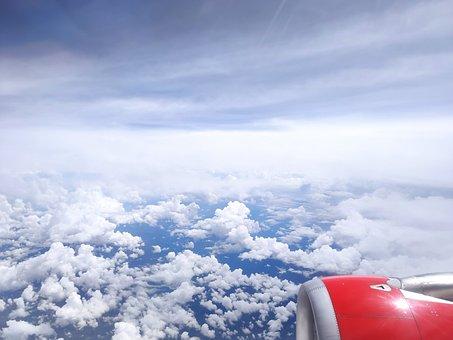 Cielo, Sky, Fly, Volar, Clouds, Nubes, Airplane, Avion