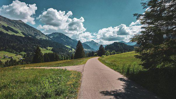 Alpen, Berge, Weg, Sonniger Tag, Bergweh, Bergliebe