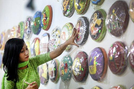 Woman, Art, Culture Program, Preparation, Dhaka
