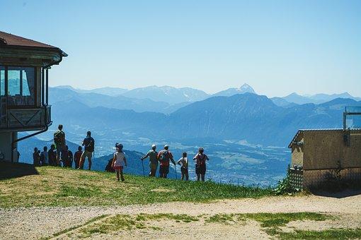 Mountains, Hikers, Alps, Austria, Nature, Alpine, Lake