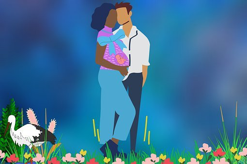 Couple, Love, Baby, Mother, Father, Child, Pregnancy