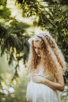 Blonde, Woman, Pregnant, Pregnancy, Portrait