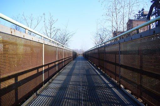 Landscape Park Duisburg, Industry, Bridge, Steel Mill