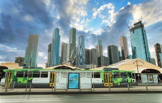 Building, Road, Street, City, Melbourne, Architecture