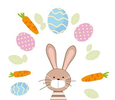 Easter Bunny, Carrot, Mask, Virus, Easter, Epidemic