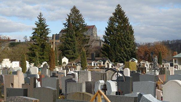 Cemetery, Castle, Hope, Sky, Grave, Graves, Death