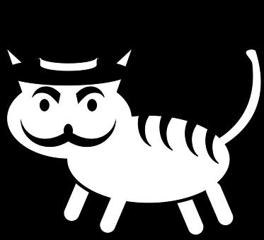 Cat, Hat, Mustache, Cylinder, Style, Stylish, Animal