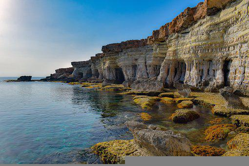 Cavo Greko, Cyprus, Sea Caves, Nature, Cliff, Sea