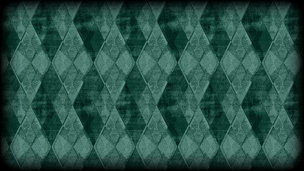 Rhombus, Checkered, Mosaic, Crystal, Diamond, Dramatic