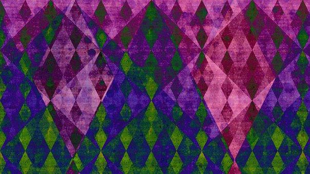 Rhombus, Mosaic, Crystal, Diamond, Dramatic, Dark