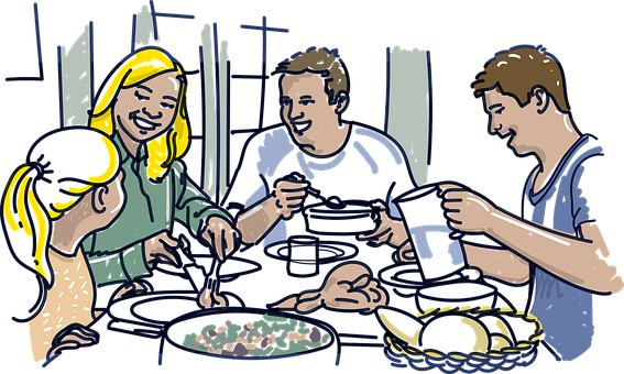 Family, Breakfast, Dinner, Lunch, Eat, Coffee, Happy