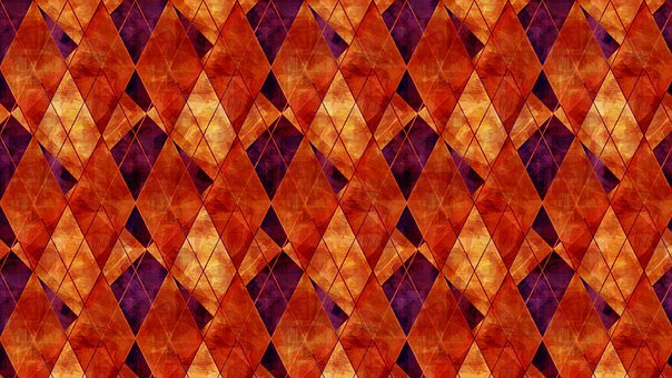 Rhombus, Checkered, Mosaic, Argyle, Dramatic, Dark