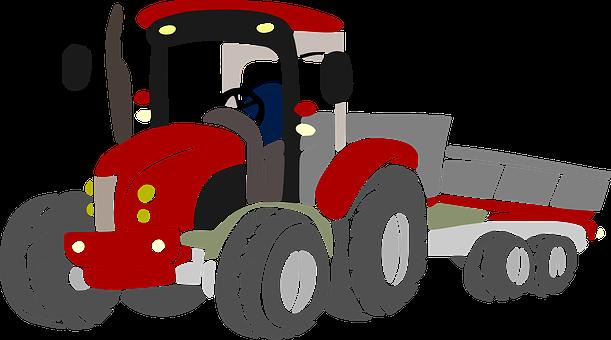 Tractor, Farmer, Field, Farm