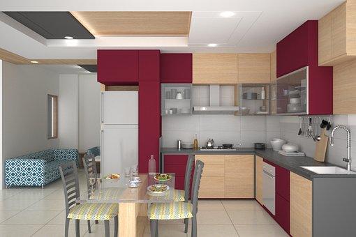 Kitchen, Interior, Kitchen Interior, Interior Design