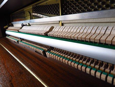 Piano, Mechanism, Hammers, Interior, Felt