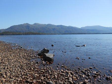 Loch, Beach, Lake, Scotland, Landscape, Water, Coast