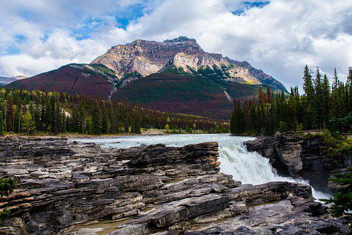 Canada, Nature, Mountain, River, Waterfall, Landscape