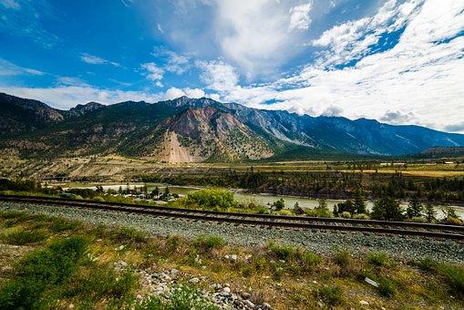 Canada, Landscape, Scenic, Railway, Mountains, Nature
