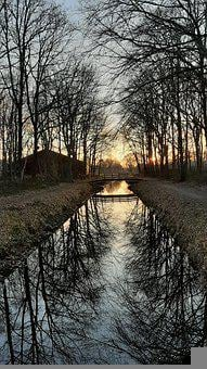 Sunset, Walk In The Woods, Rest, Meditate, Only, Lonely