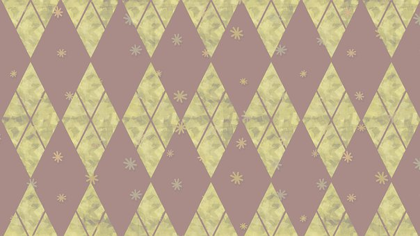 Rhomboid, Rhombus, Checkered, Mosaic, Argyle, Christmas