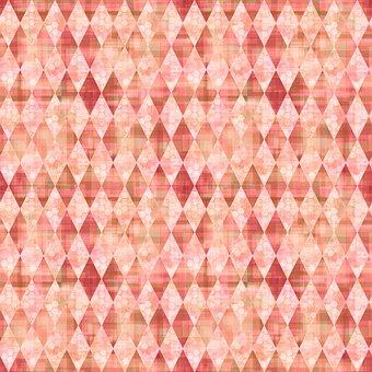 Rhombus, Checkered, Mosaic, Argyle, Pattern, Seamless