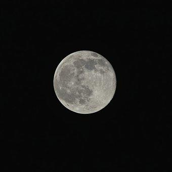 Moon, Night, Dark, Astronomy
