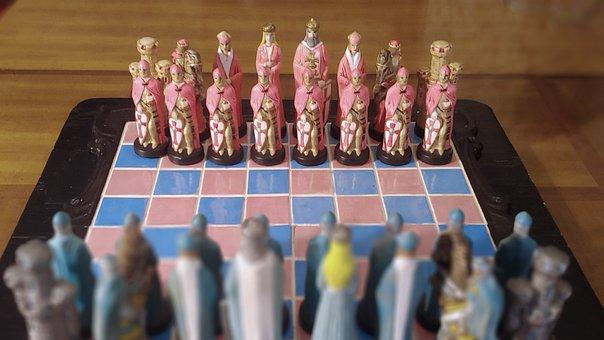 Chess, Ceramic, Pink Side