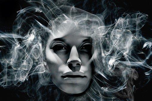 Face, Soul, Head, Smoke, Portrait, Profile, Person