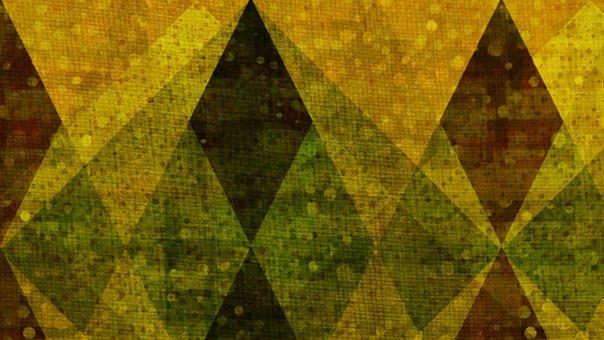 Rhomboid, Rhombus, Mosaic, Crystal, Diamond, Dramatic