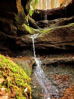 Waterfall, River, Stream, Rocks, Creek, Forest, Nature