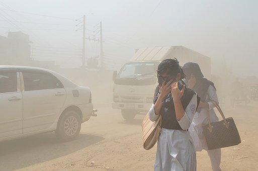 Air Pollution, Pedestrian, Sand, Air
