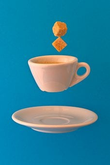 Coffee Cup, Espresso, Saucer, Floating, Floating Saucer