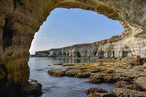 Rocky Coast, Sea Caves, Grotto, Erosion, Formation