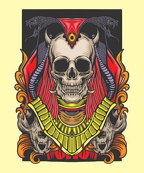 Skull, Death, Design, Gothic, Tattoo, Horror, Fear
