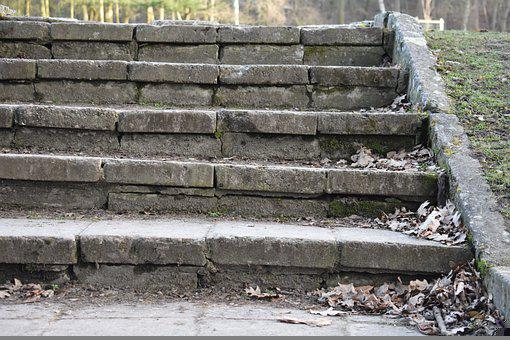 Stairs, Gradually, Stone, Old, Emergence, Staircase