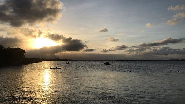 Por Do Sol, Mar, Sunset, Beach, Summer, Island, Sea