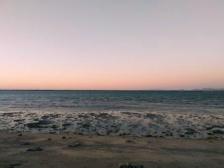 Sea, Sunset, Beach, Sky, Sand, Winter, Ocean, Peace