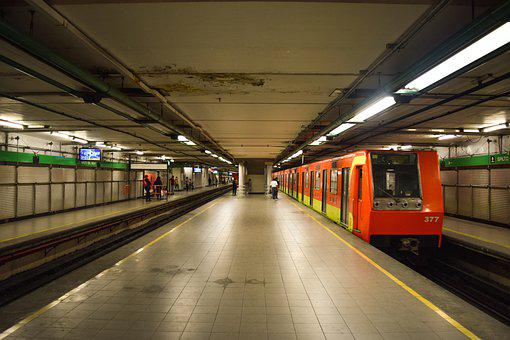 Metro, Vagón, Tren, Subterráneo, Anden, Estación