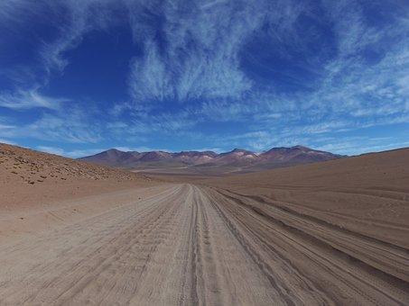 Desert, Uyuni, Bolivia, Potosì, Landscape, Sky, Blue